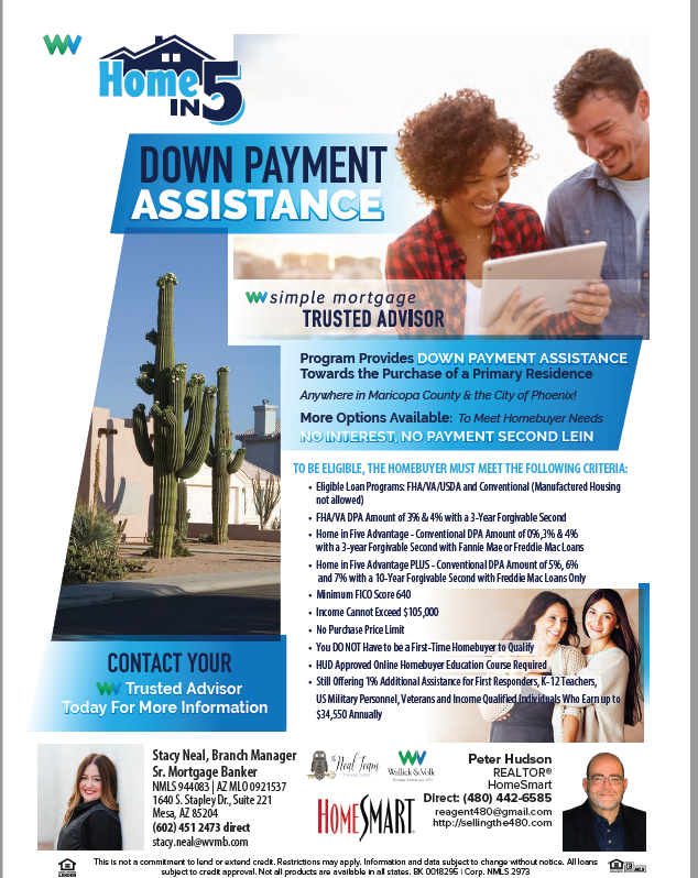 Home in 5 Down Payment Assistance Program